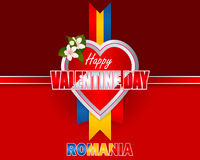 Holiday design, background for Romanian celebration of Valentine's Day Royalty Free Stock Photography
