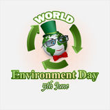 Holiday, design, background for World environment day Royalty Free Stock Images