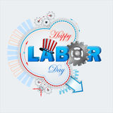 Holiday design for celebration of American Labor Day Royalty Free Stock Photo