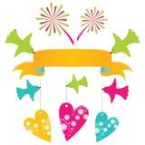Holiday design elements set. Colorful holiday design elements set Royalty Free Stock Photos
