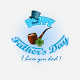 Holiday design, template for Father's day celebration royalty free illustration