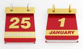 Holiday desktop calendar Royalty Free Stock Images