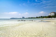Holiday destination background of beautiful tropical sandy beach Royalty Free Stock Photos