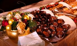 Holiday Dining - Dessert Arrangement Royalty Free Stock Photos