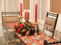 Holiday dining room Stock Photography