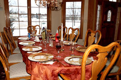 Holiday Dining Table Stock Images