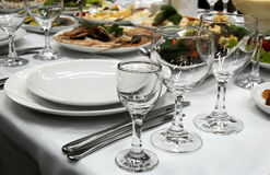 Holiday dinner Stock Images