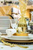 Holiday dinner table Stock Image