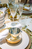 Holiday dinner table Stock Photography