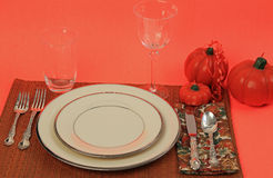 Holiday Dinner Table Royalty Free Stock Images