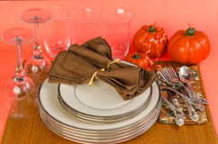 Holiday Dinner Table Setting Stock Photography