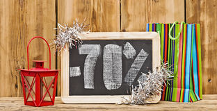 Holiday discount shopping concept Stock Photos