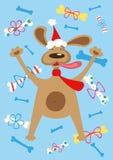 Holiday dog. Vector illustration of holiday dog Royalty Free Stock Photos