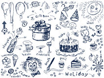 Holiday doodles Royalty Free Stock Photos