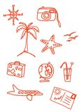 Holiday doodles Royalty Free Stock Image