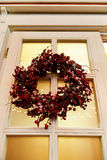 Holiday door wreath Stock Images