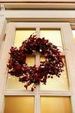 Holiday door wreath Stock Images