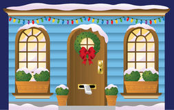 Holiday Doorway Royalty Free Stock Photos
