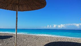 Holiday on the beach. Holiday in drimadhe vlore albania Stock Images