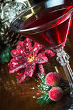 Holiday Drink Background Stock Photo