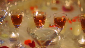 Holiday drinks buffet stock footage