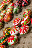Holiday easter egg. Holiday color easter egg set closeup view royalty free stock photos