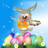 Holiday easter.Happy Hair royalty free illustration