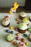 Feast of Easter Holiday egg rabbit stock image