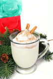Holiday Egg Nog on White Royalty Free Stock Photos