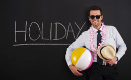 Holiday!. End of work! Time to holiday royalty free stock image