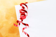 Holiday envelope closeup Royalty Free Stock Photo