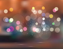 Holiday evening city. Vector abstract background.Holiday evening city Royalty Free Stock Image