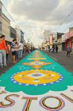 Holiday event of Corpus Christi in Campo Grande MS. Campo Grande, Brazil - May 31, 2018: Holiday event of Corpus Christi at the 14 de Julho street. People Royalty Free Stock Photography