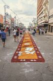 Holiday event of Corpus Christi in Campo Grande MS. Campo Grande, Brazil - May 31, 2018: Holiday event of Corpus Christi at the 14 de Julho street. People Stock Photography