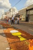 Holiday event of Corpus Christi in Campo Grande MS. Campo Grande, Brazil - May 31, 2018: Holiday event of Corpus Christi at the 14 de Julho street. People Stock Photos