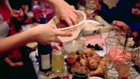 Holiday Event people. Celebration with a banquet stock video footage