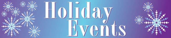 Holiday Events Banner Royalty Free Stock Photography