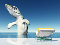 Holiday Experience with Sea Monster Royalty Free Stock Photo