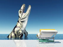 Holiday Experience with Sea Monster Stock Photo
