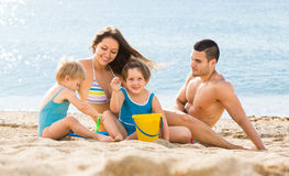 Holiday family with children royalty free stock photo