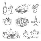 Holiday Family Dinner. Vector illusrtation of Holiday Family Dinner Stock Image