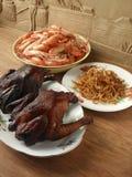 Holiday feast stock photos
