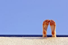 Holiday feet Stock Image
