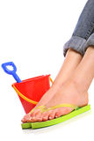 Holiday feet Royalty Free Stock Photo