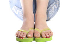 Holiday feet Stock Photography