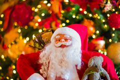 Santa Claus Christmas Decoration. Holiday fever here. This image supports the christmas and new year festivities. Shot with Nikon d850 Royalty Free Stock Photography
