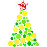 Holiday fir made by circles Royalty Free Stock Image
