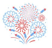 Vector holiday firework. Independence day of America. Holiday firework. Independence day of America Royalty Free Stock Images
