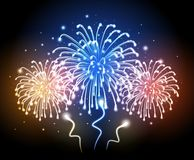 Holiday firework. Independence day Royalty Free Stock Photos
