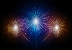 Holiday firework. Independence day Royalty Free Stock Image